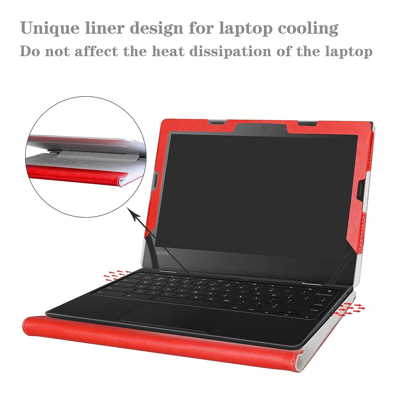 Alapmk Protective Case Cover For 11.6 Lenovo 500e Chromebook /& 300e Chromebook /& 100e Chromebook Series Laptop,Red