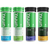 Nuun Vitamins: Vitamins + Electrolyte Drink Tablets, Mixed Flavor Pack, Two Caffeinated Flavors, 4 Tubes (48 Servings)