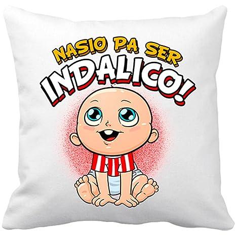 Cojín con relleno nacido para ser Indálico fútbol - Blanco ...