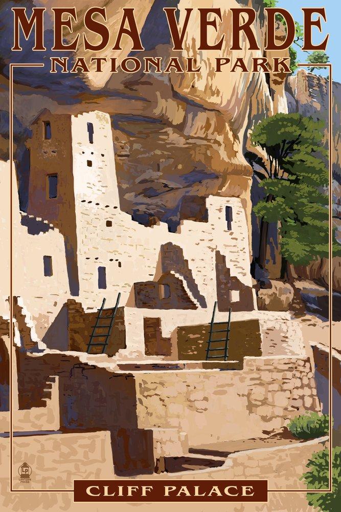 人気デザイナー Mesa Verde国立公園、コロラド – 9 Cliff 24 Palace 9 x 12 Art Art Print LANT-40894-9x12 B07B2CGFD9 16 x 24 Signed Art Print 16 x 24 Signed Art Print, SmartBuyGlasses:80c5fbe9 --- arianechie.dominiotemporario.com