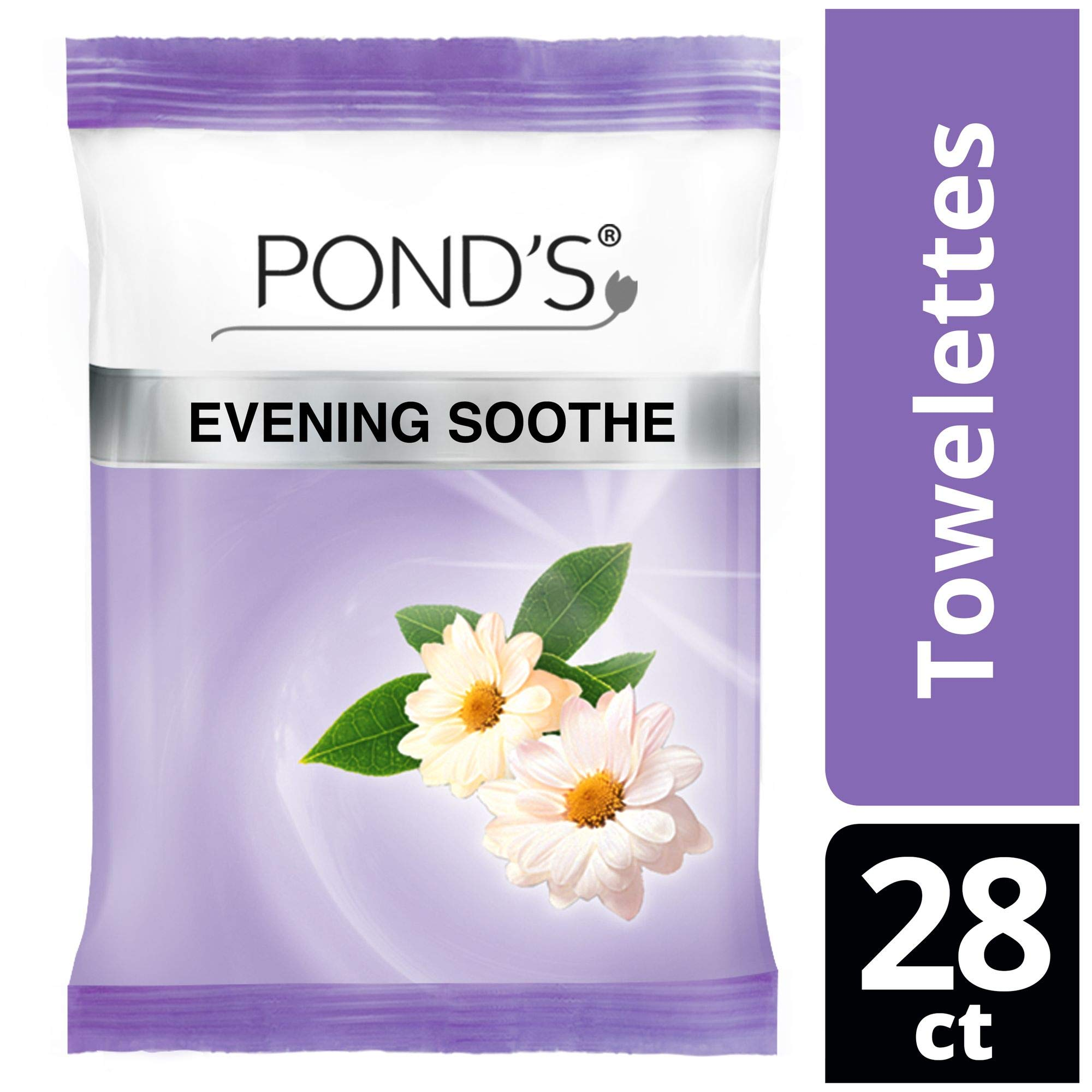 Ponds MoistureClean Makeup Remover Wipes, Evening Soothe, ...
