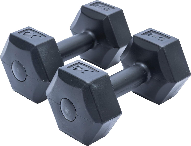 XQ Max - Mancuerna (2 kg, 2 Unidades), Color Negro: Amazon.es ...