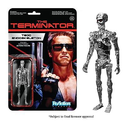 Funko The Terminator Chrome T-800 Endoskeleton ReAction Figure: Funko Reaction:: Toys & Games