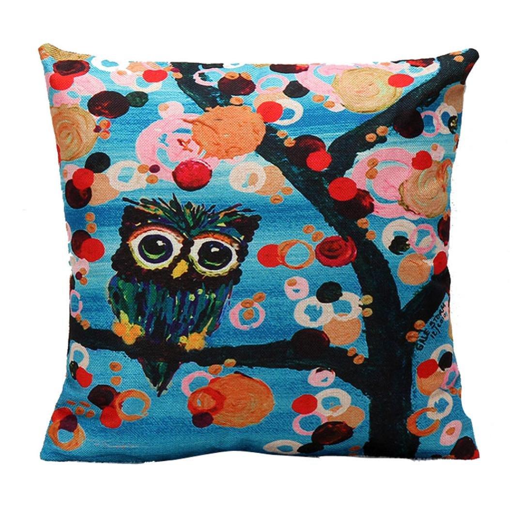 Winhurn Animal Print Festival Pillowcase for Sofa Bed Home Decoration