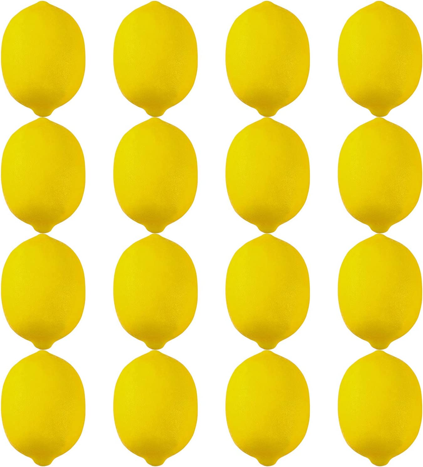 Elcoho 16 Pack Large Artificial Lemons Lifelike Yellow Lemon Fake Lemon Fruit for Home Kitchen Party Decoration, 3.7 inches x 2.5 inches