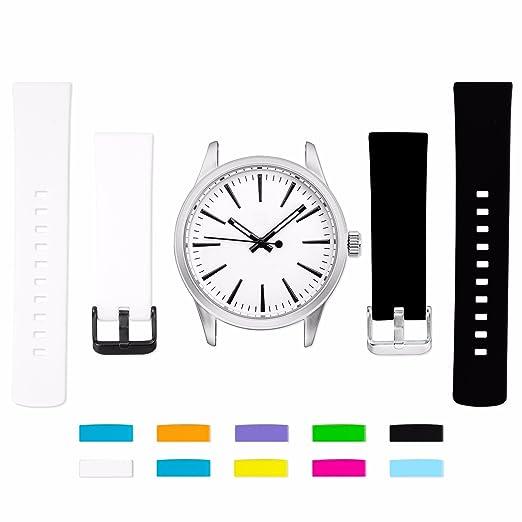 Dwatch® Unisex analógico cuarzo muñeca reloj brilla en la oscuridad negocio banda de goma al aire libre: Amazon.es: Relojes