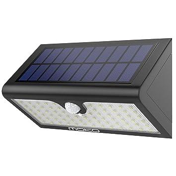 MoKo Luz de Solar LED, Super Brillante 71 LED Solar Lámpara Sensor de movimiento,