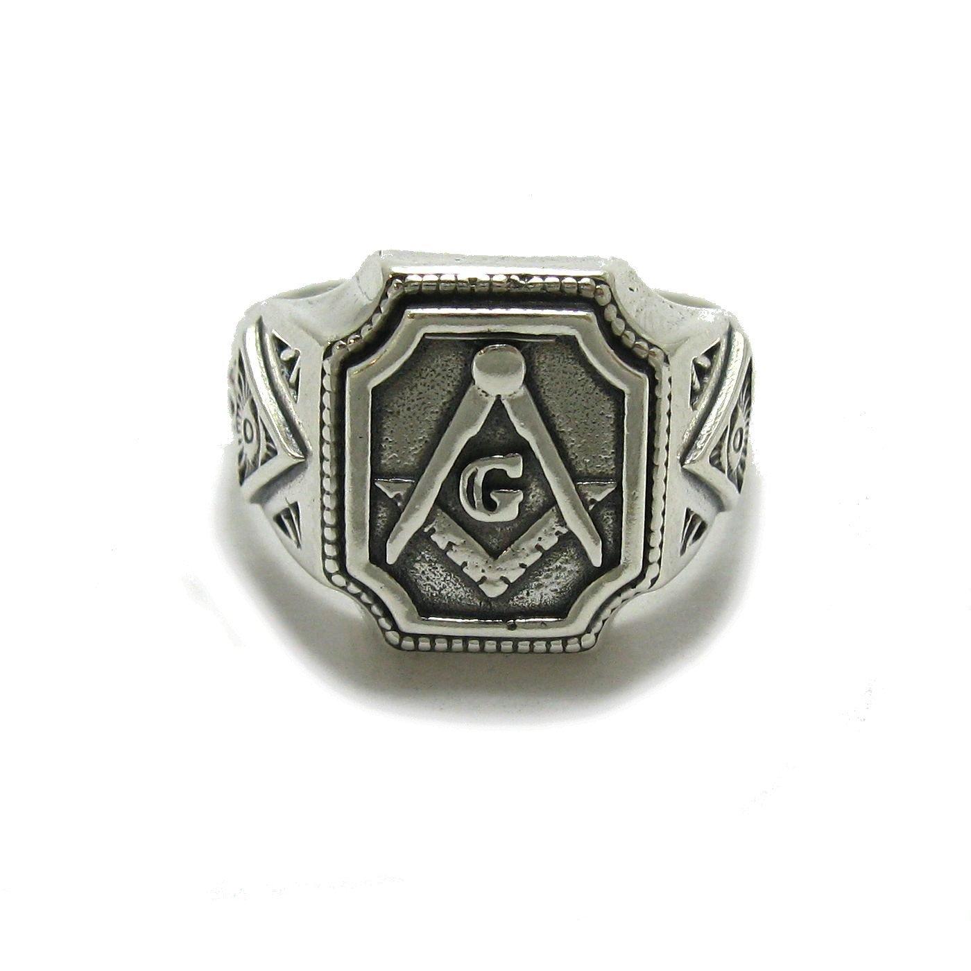 Anello massonico da uomo in argento 925 R001781