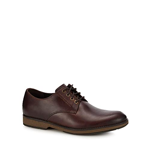 a318ff9b6b68 Clarks Men Brown Leather  Hinman  Lace Up Shoes  Amazon.co.uk  Shoes ...
