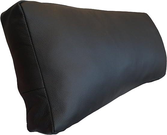 Sofakissen 50x40 cm schwarz 2er Set echt Leder Dekokissen Couchkissen Zierkissen