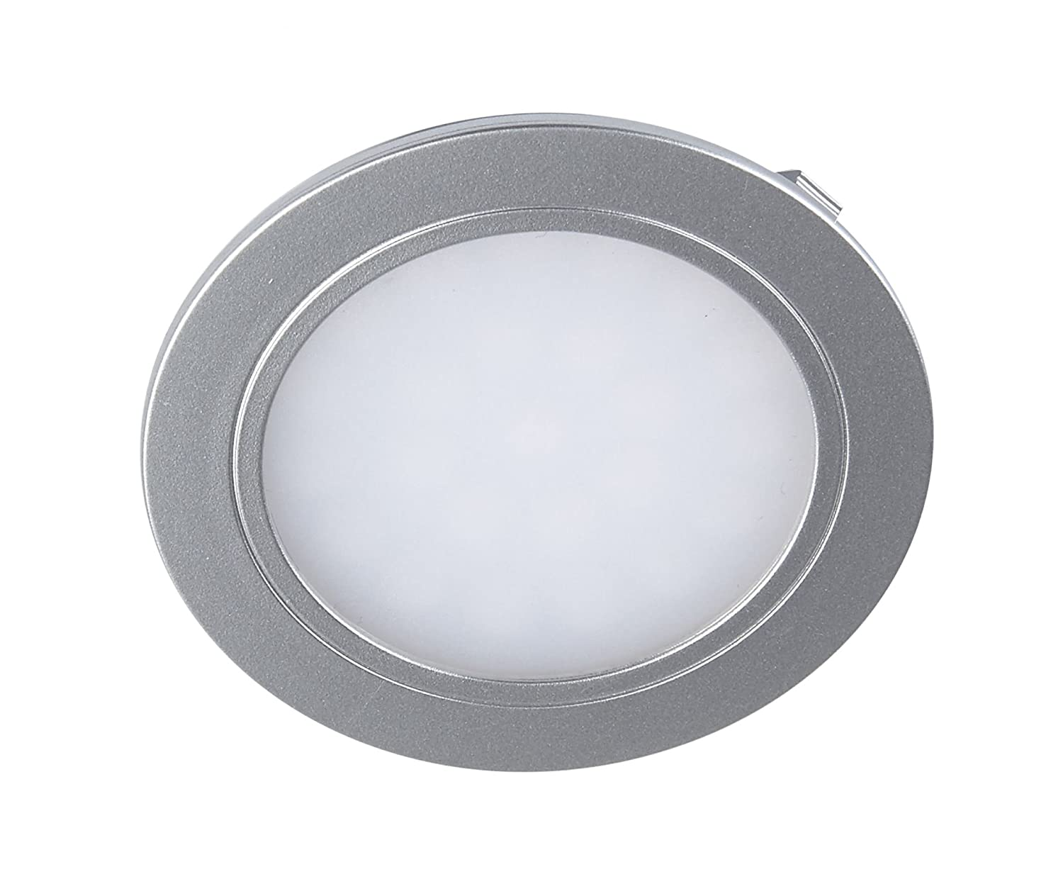 Leyton Lighting CLR-SAT-WW 2w 12v LED Recessed Downlight Frosted Satin Silver Warm White 3000K