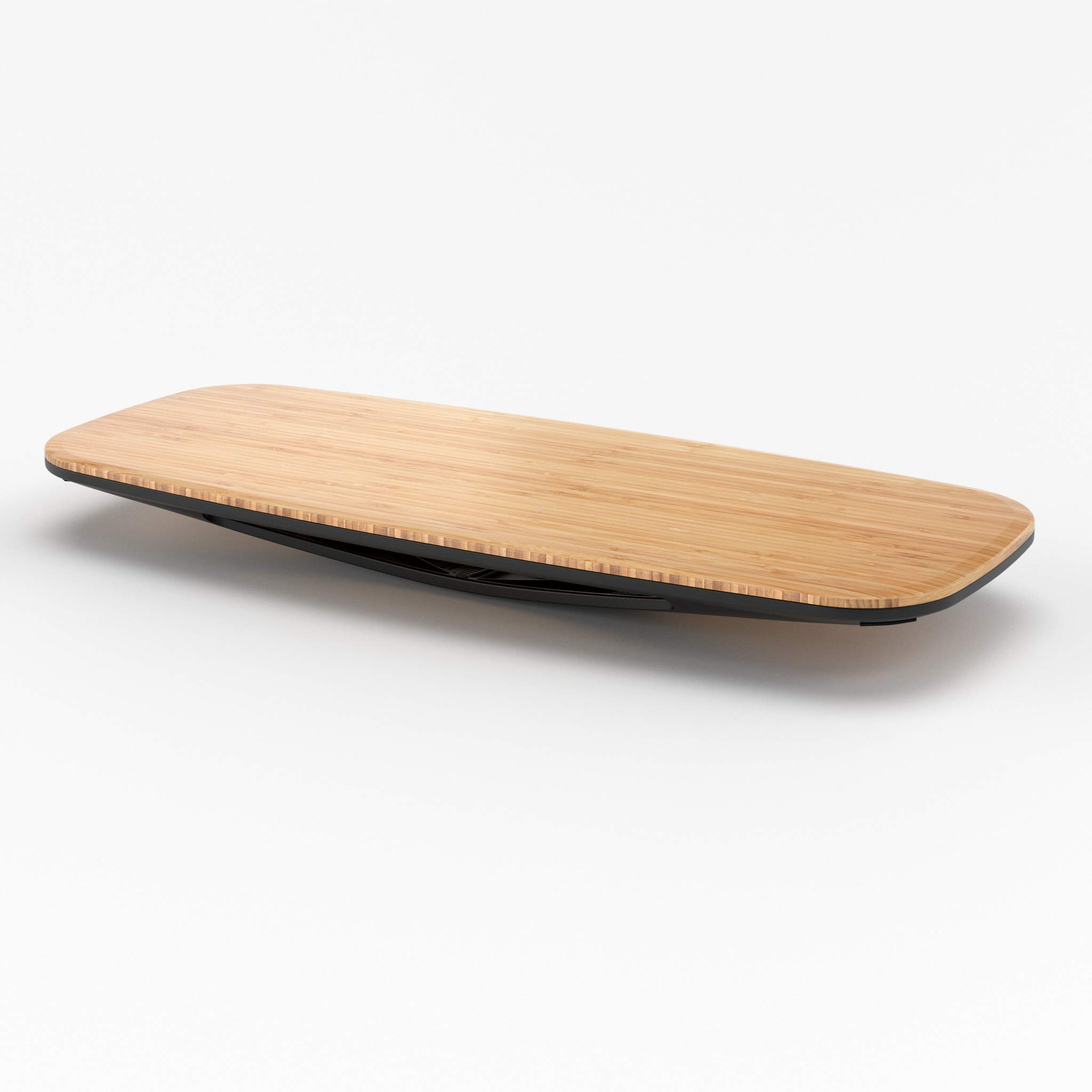 Fully Floatdeck Balance Board - Exercise at Your Desk and Office - Powder Coated Aluminum Base and Bamboo Top