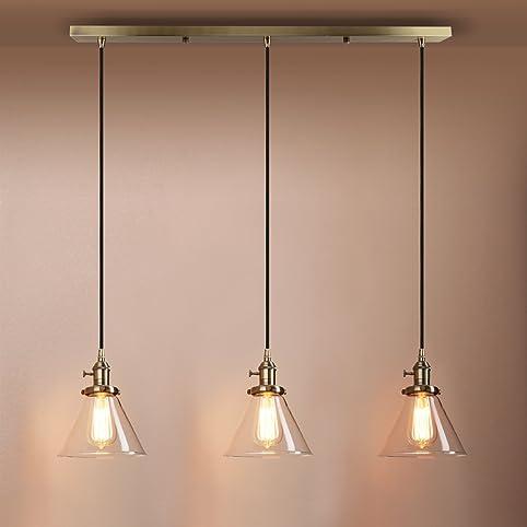 Pathson Industrial Modern Vintage Loft Kitchen Bar Lights - Bedroom light fittings uk