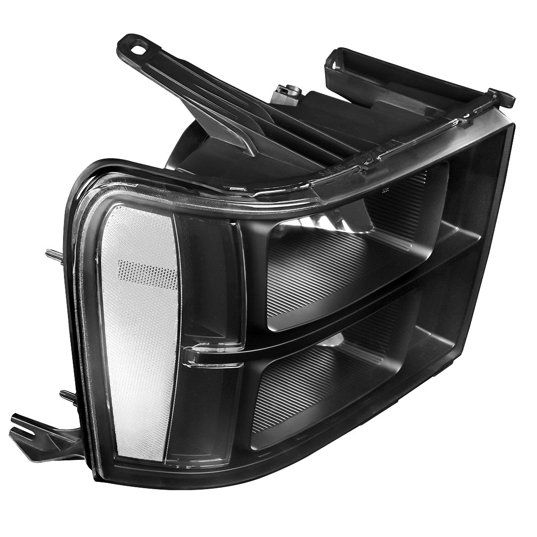 Driver and Passenger Side AUTOSAVER88 For 07 08 09 10 11 12 13 14 GMC Sierra 1500//2500HD//3500HD Headlight Assembly Headlamps Replacement Black Housing Clear Lens