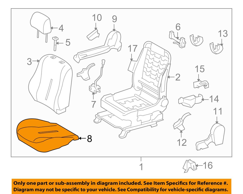 TOYOTA Genuine 71518-52U20-B1 Sear Cushion