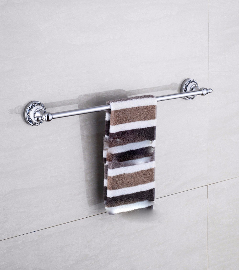 KHSKX Single towel bars Chinese blue and white porcelain Towel Bar Towel rack bathroom accessories low-cost