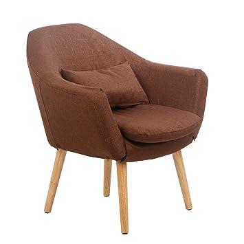 Glenmore Fauteuil Salon Tissu Lin Scandinave Design Chaise Bureau ...