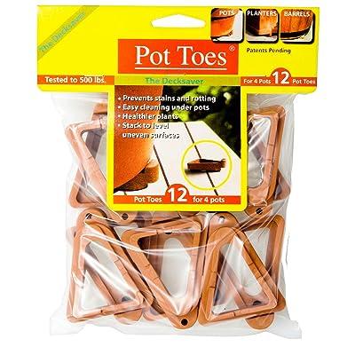 Bosmere Pot Toes, Terra-cotta (Pack of 12) : Planters : Garden & Outdoor