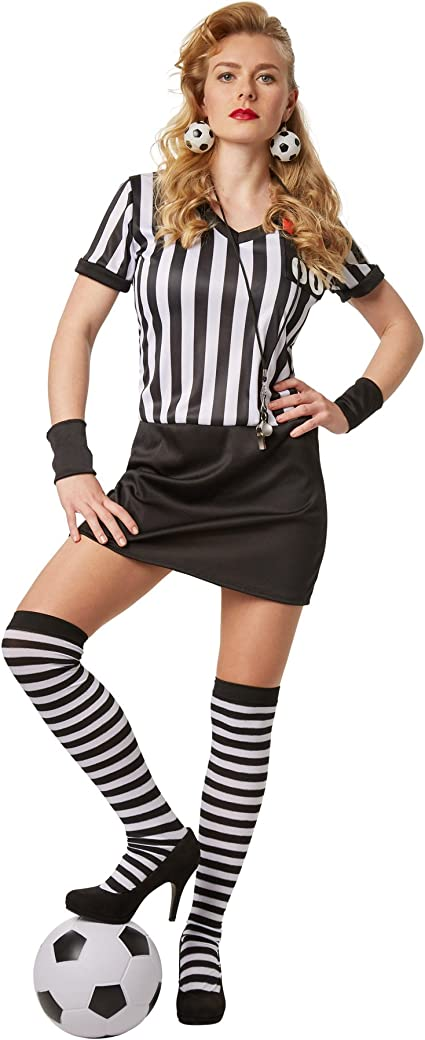 dressforfun Disfraz para mujer Árbitro | Vestido Stretch con ...