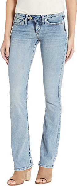 Silver Jeans Co. Womens Tuesday Low-Rise Slim Bootcut Jeans