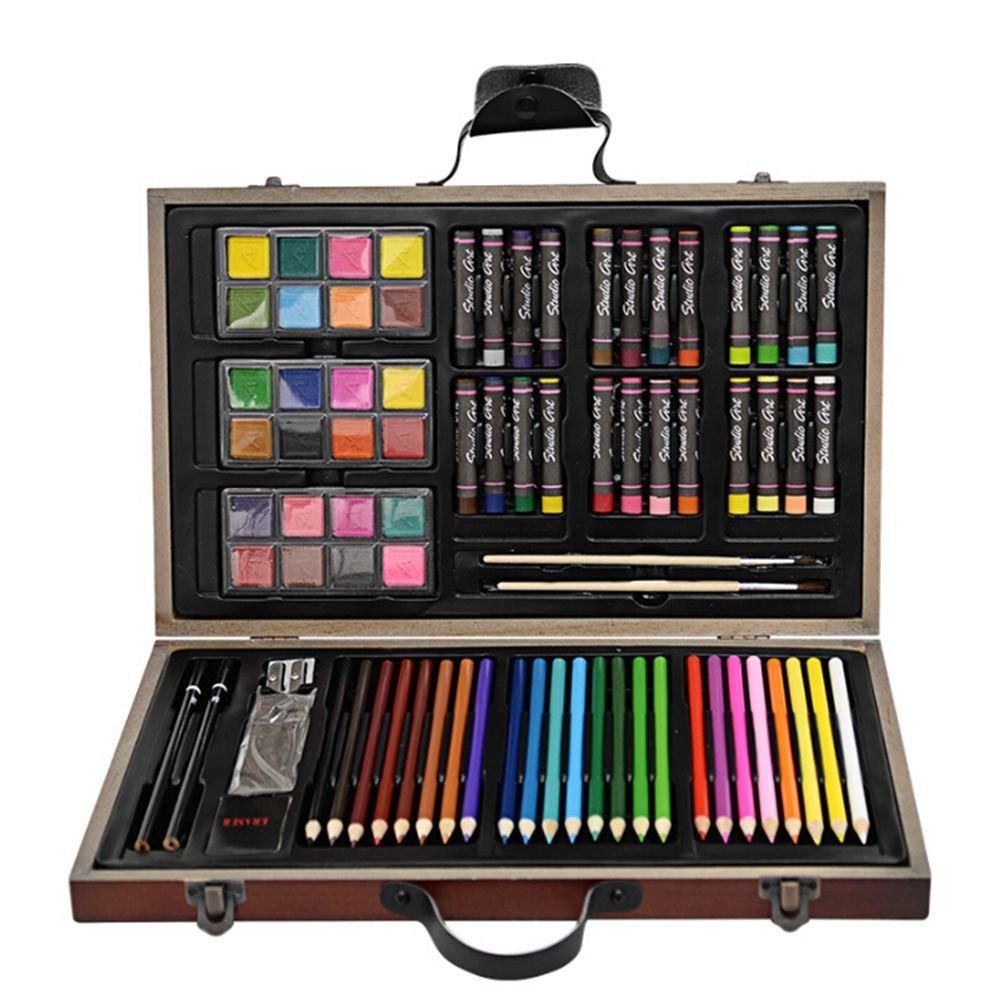 eff86e0cd Ertong - Bolígrafos para para para colorear (madera, incluye lápiz de  acuarela, pigmento de acuarela, ceras de grasa y pincel, 8 regalos) blanco  986caf