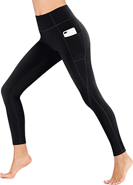 Amazon.com: Heathyoga Pantalones de yoga con bolsillos extra ...