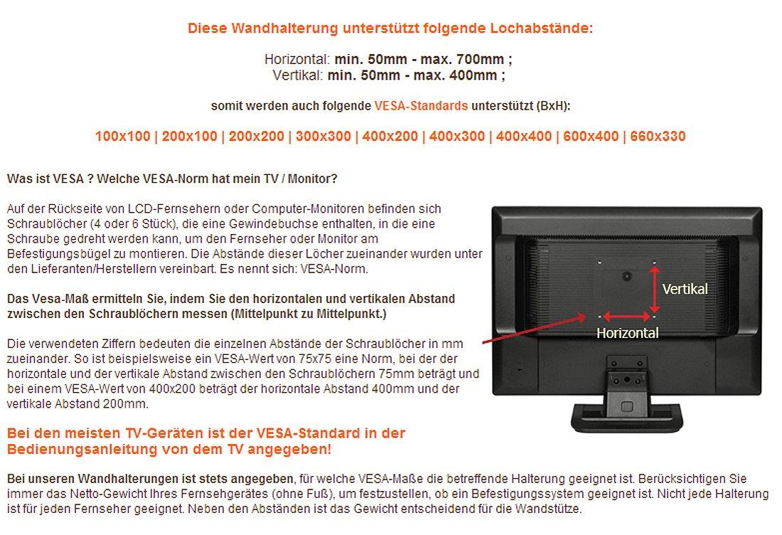 Ricoo Wandhalterung Tv Schwenkbar Neigbar R28 Xl Amazonde Elektronik