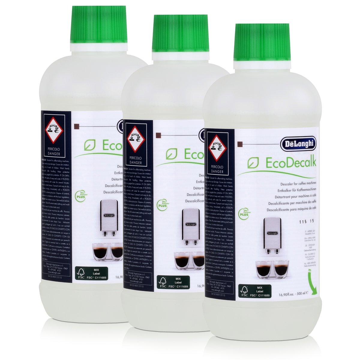 Delonghi Descaler Ecodecalk 500ml (Pack of 3)