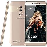 "Smartphone ohne Vertrag Leagoo T8s Dual SIM Mobiltelefon Handy 5,5"" Display Dual-Hauptkameras 13MP + 2MP, 4GB RAM + 32 GB ROM 128 GB Erweiterbar Gesicht Fingerabdruck entsperren, Android 8.1 (Gold)"