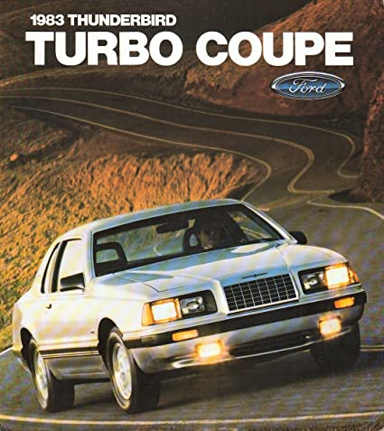 1983 FORD THUNDERBIRD TURBO COUPE COLOR SALES BROCHURE FOLDER - 3-83 USA - EXCELLENT