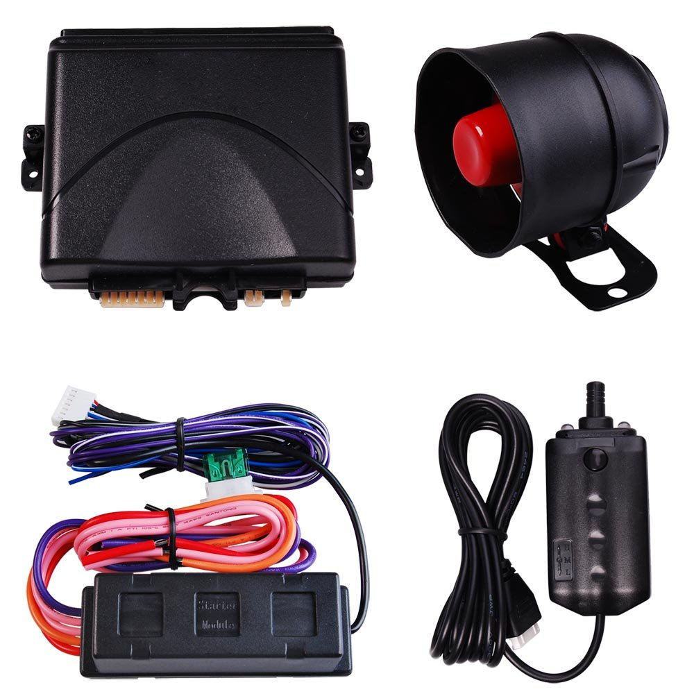 Yescom Vehicle Security Paging Car Alarm 2 Way LCD Sensor Remote Engine Start System Kit Automatic
