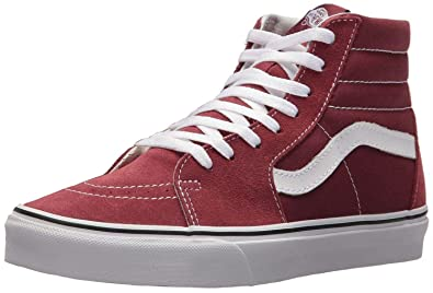 62212237f6 Vans SK8 Hi Maroon White Suede Unisex Trainers Boots-10  Amazon.co ...