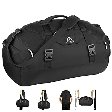 75263c320fca AIONE Duffel Backpack Bag 4-Way Sports Gym Backpack Travel Luggage Bags  with Shoe Compartments