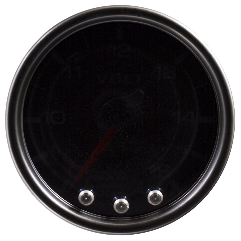 Auto Meter P34452 Gauge, Voltmeter, 2 1/16'', 16V, Stepper Motor W/Peak & Warn, Smoke/Blk, Spek-Pro
