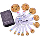 Nardo Visgo® 13-teiliges verdicktes ABS-Plastik-Messlöffel / -schalen-Set - Wesentliche Messwerkzeuge zum Messen von trockenen flüssigen Bestandteilen Weiß