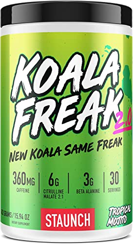 Staunch Koala Freak 2.0 Pre-Workout Tropical Mojito 30 Servings – Effective, High Quality Pre-Workout Powder