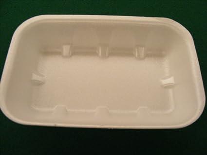 50 piezas Bandeja Bandeja poliestireno Mis.28 x 22 x 5 Ristoro Alimentos macellerie