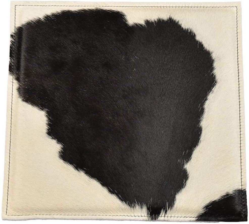 Cojín genérico de Piel de Vaca, cojín para Silla, de auténtica Piel de Vaca y Fieltro de Lana, 38 x 38 cm
