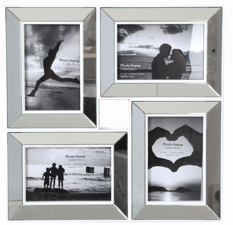 Amazon.de: 35 x 35 Bilderrahmen, abgeschrägt, Spiegel, 4 x 6, Style ...