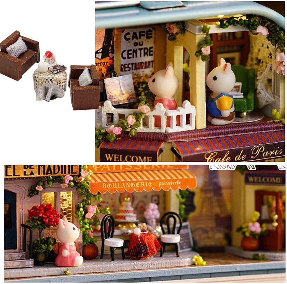 Starlight Tour WYD Sweet Dreams Walking Paris 3 Miniature Dollhouse Kits Miniature Scenes Small Iron Box Creative Scene Box Theater(3pcs)