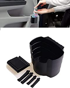 Car Door Pocket Hand Sanitizer Holder, Front Door Side Insert Storage Pockets Box, Car Cup Holders for Drinks, Food Drink Bottle Mount Stand, Fits Smaller Size Gaps and Back Seat Storage Net (1PCS)