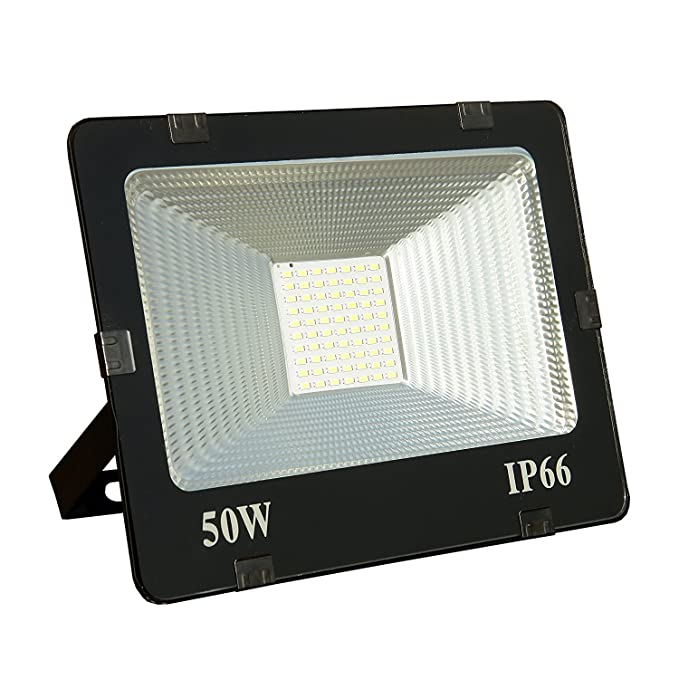 Manthan 50W Ultra Thin Slim IP66 LED Flood Outdoor Light Cool Warm White Waterproof (50 watt)(Yellow)