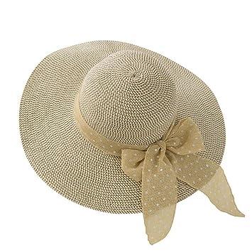 1075e318c YXINY Viseras Gorro De Playa Mujer Verano Vacaciones Mar Sombra Protección  Solar Daqi Sombrero De Paja Plegable (Color : Brown): Amazon.es: Jardín