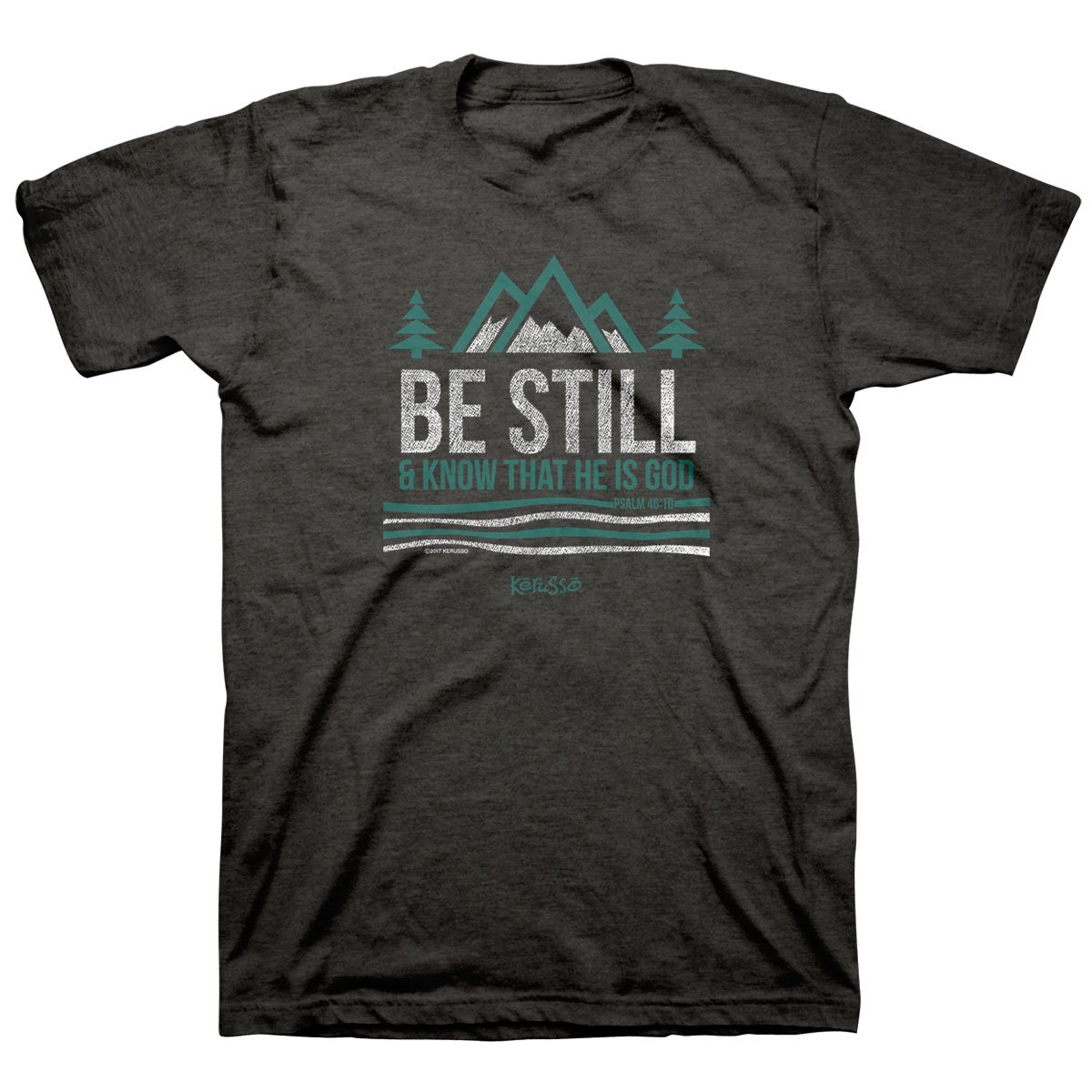 Kerusso Men's Be Still and Know T-Shirt -Tweed-
