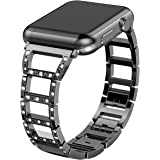 Valband For Apple Watch Band 38mm 42mm, Stainless Steel Bling Wristband Replacement Strap for Apple Watch Series 3 Series 2 Series 1 Nike+ Sport Edition