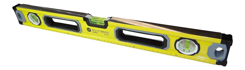 MultiBros Wasserwaage mit Magnet und horizontaler, vertikaler und 45-Grad-Libell