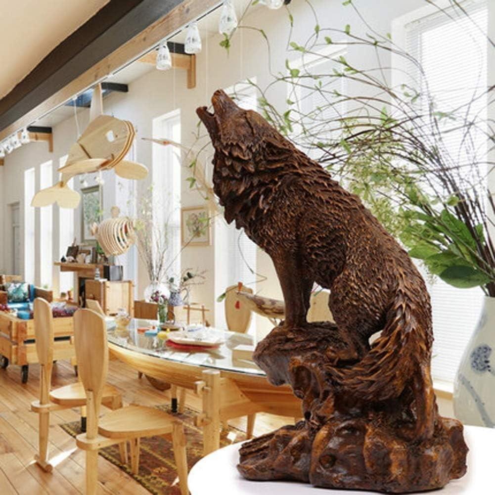 HXLG ハウリングウルフでAロック女神のために装飾的なロッジで素朴なキャビンの装飾彫刻や置物野生生物動物、オオカミまたはティンバーウルブズグッズアートグッズスタチュー
