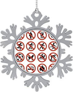 C COABALLA Not Allowed Sign Collection - - No Smoking Sign,Cute 2020 Home Décor Hanging Snowflake Decorations Ornament Skateboarding 3PCS