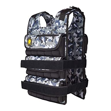 K2Elite Weighted Vest Long Style for Men 0lbs 90lbs Adjustable Cross-fit Training Workout Camouflage