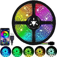 Luces de tira LED,LED Tira de TV,Tiras de LED USB Impermeables con Conexión Bluetooth,para Cine en Casa, Habitación, TV…